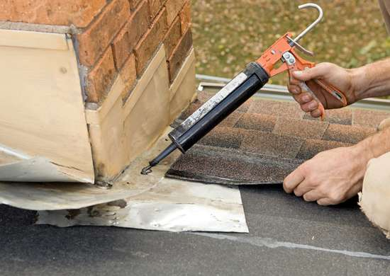Roof Repair with Caulk