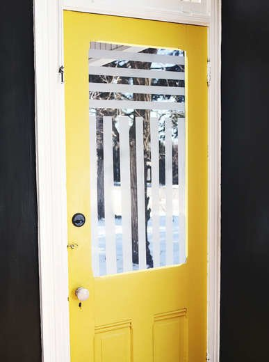 DIY Frosted Glass Window