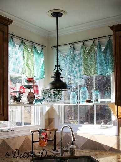DIY Table Cloth Curtains
