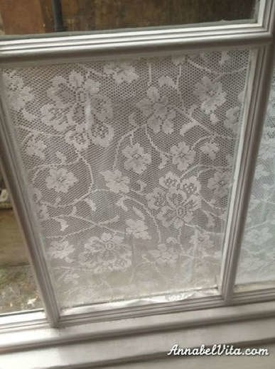 DIY Lace Window Treatment