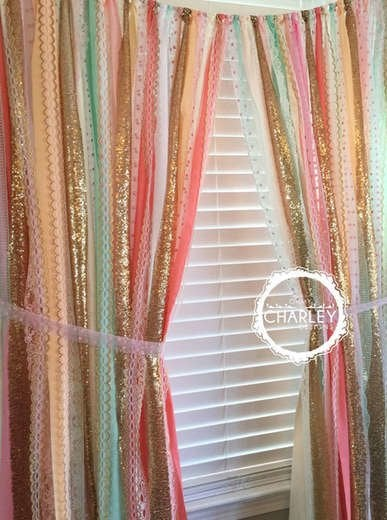 Diy Ribbon Garland For Window Window Treatments Ideas