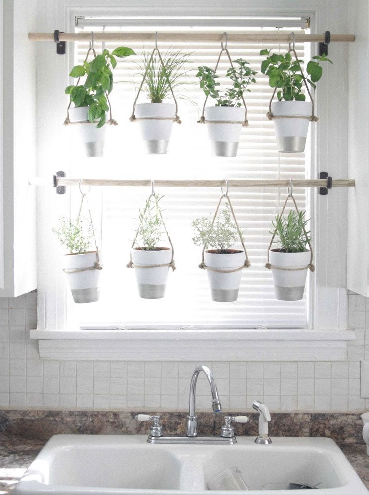 Diy Hanging Herb Garden Window Treatments Ideas 12