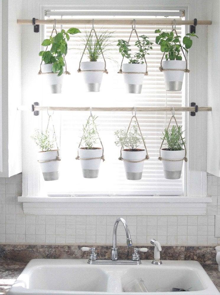 DIY Hanging Herb Garden - Window Treatments Ideas: 12 ...