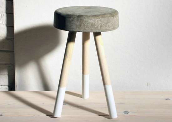 Concrete bucket stool made with quikrete