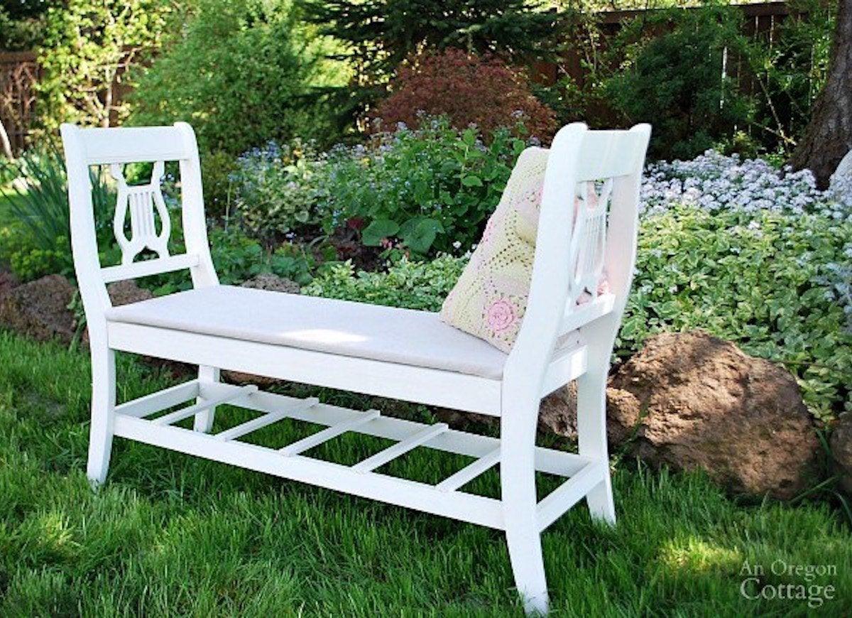 White diy bench