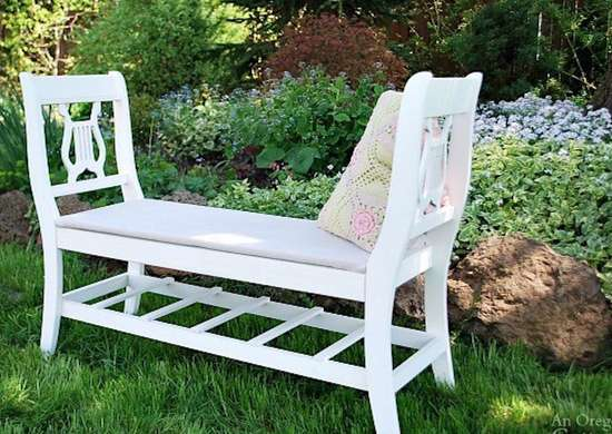 Repurposed Chairs Into Bench