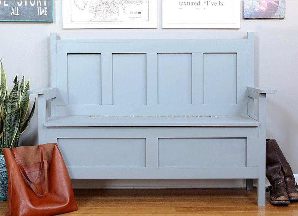 Diy storage bench close