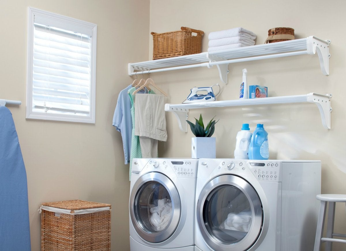 valuable inspiration laundry organization. Ezshelf laundry supply storage Finally  10 Solutions for Your Hard to Store Household Items Bob Vila