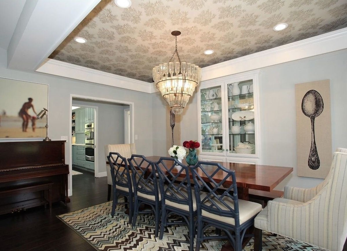 Wallpapered Tray Ceiling Wallpapered Rooms 12 Photos