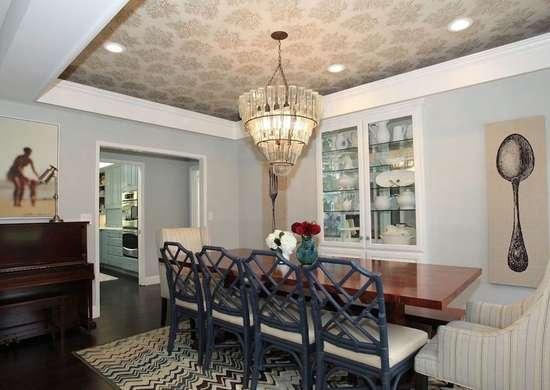 Wallpaper ceiling