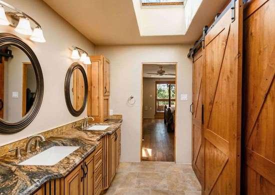 Barn Doors in Bathroom