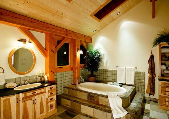 Wood on the Bathroom Ceiling