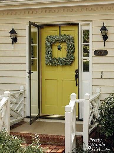 Chartreuse front door