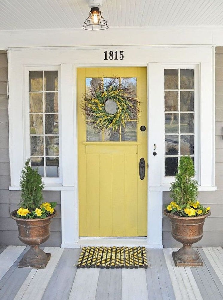 Yellow front door 11 front door designs to welcome you for Redesign the outside of your home