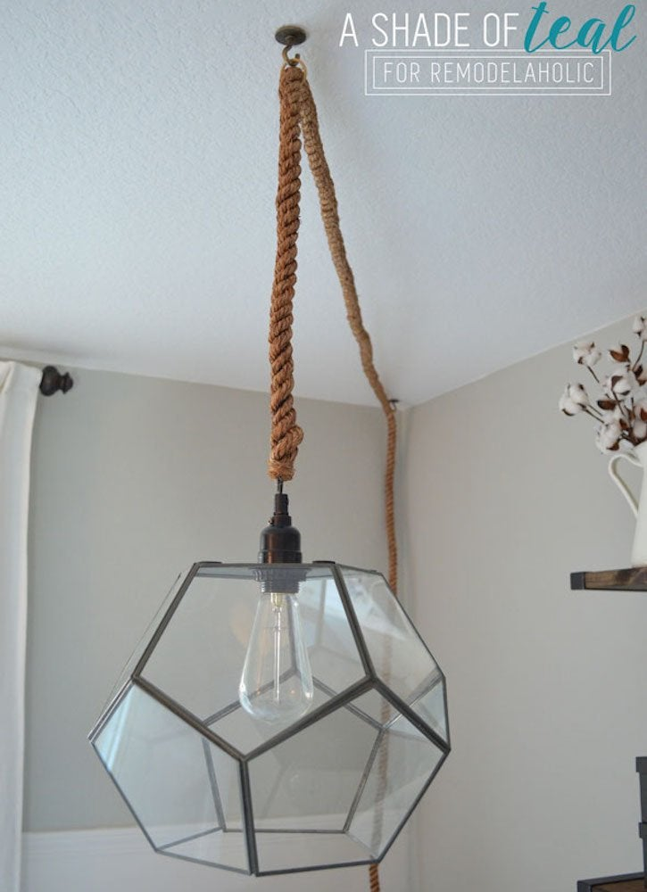 DIY Glass Pendant Light
