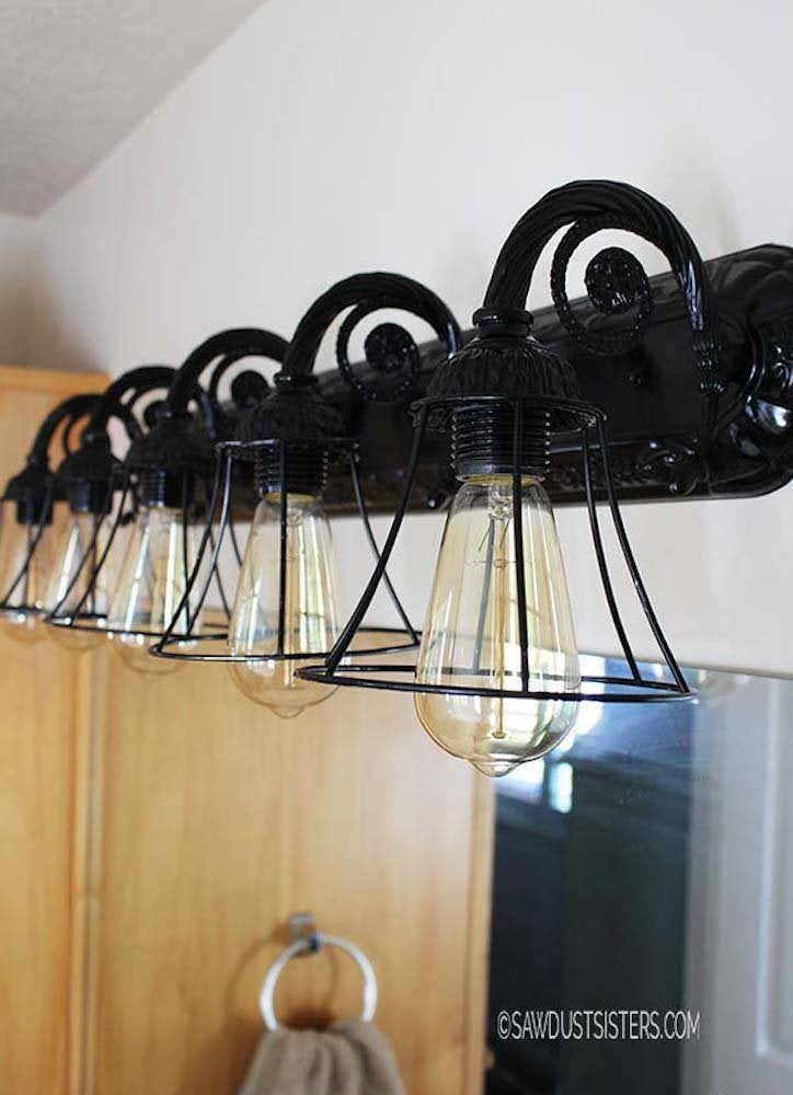 Sawdustsisters bathroom light fixture