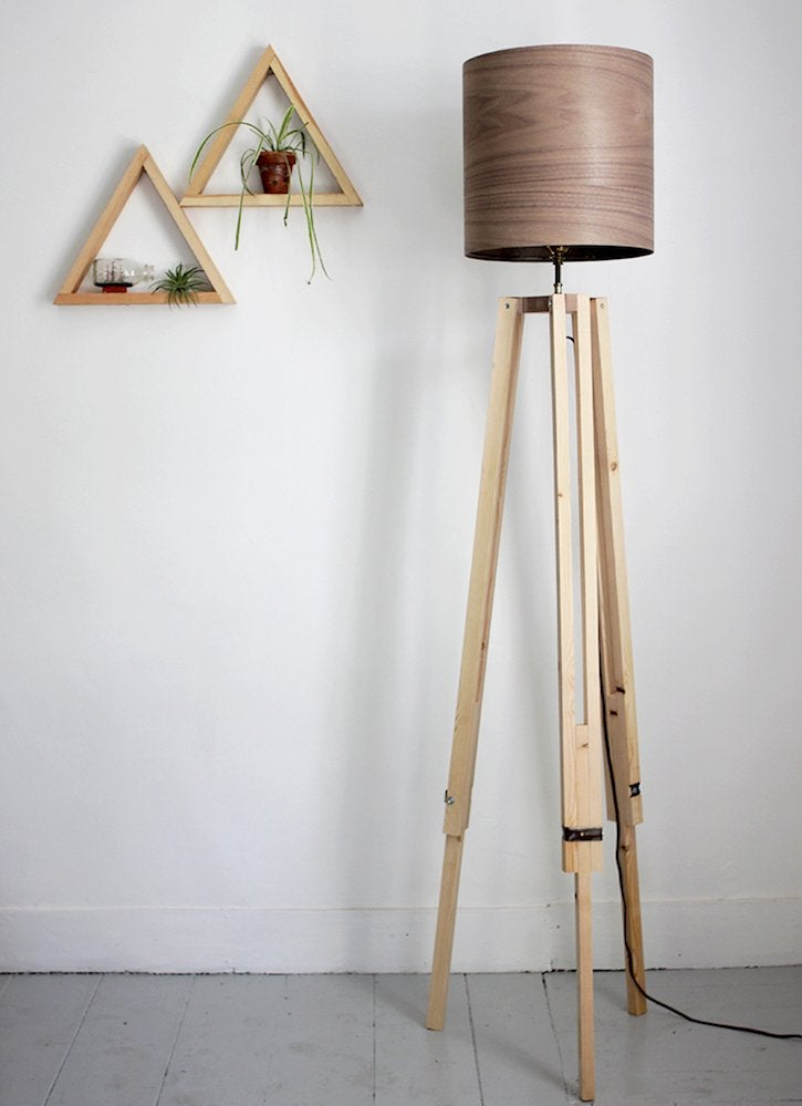 Put Your Carpentry Skills To Use And Build Yourself A Sleek Stylish Floor Lamp Make This Fun Design You Ll Need Lighting Kit Pine Boards Wood