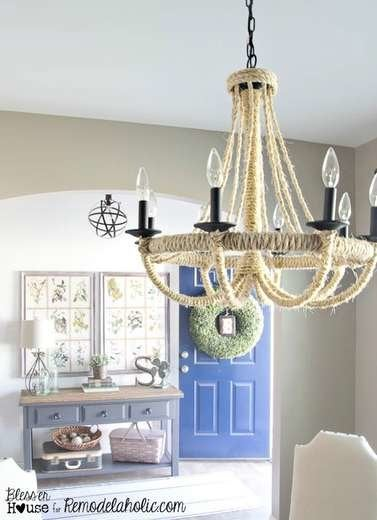 Nautical Rope Chandelier
