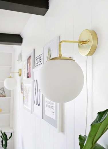 Brass Globe Sconce
