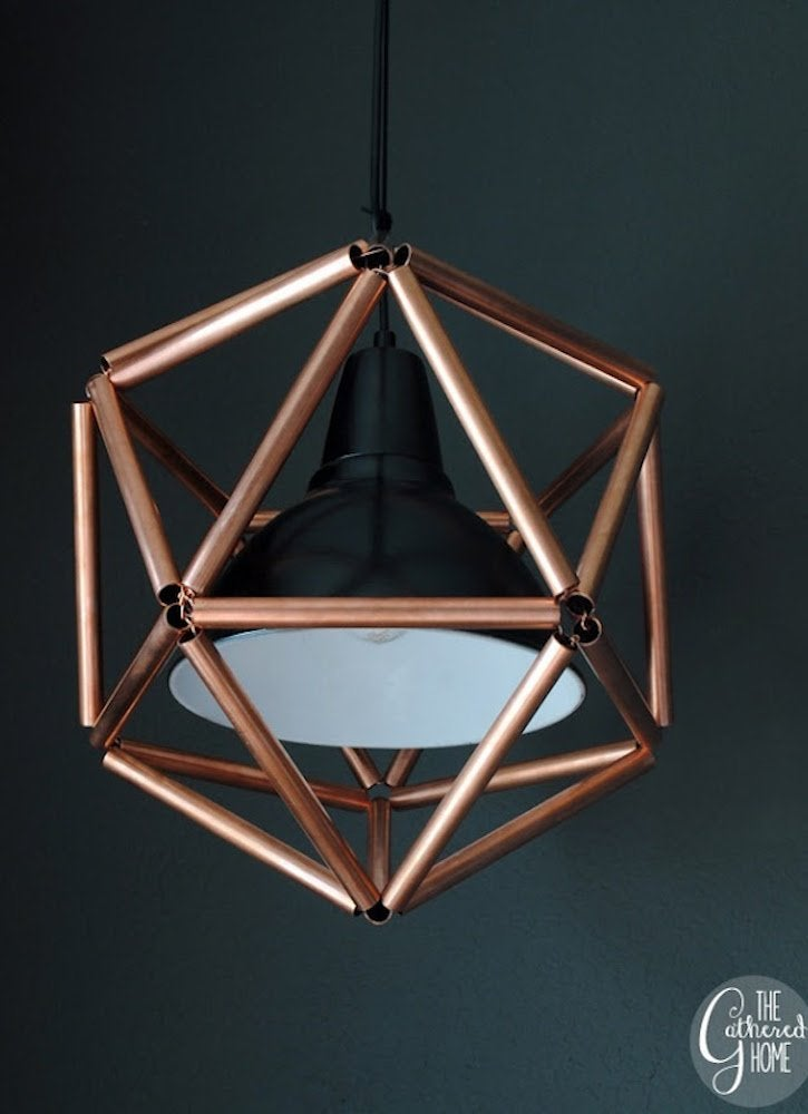Gatheredhome copper pipe light fixture