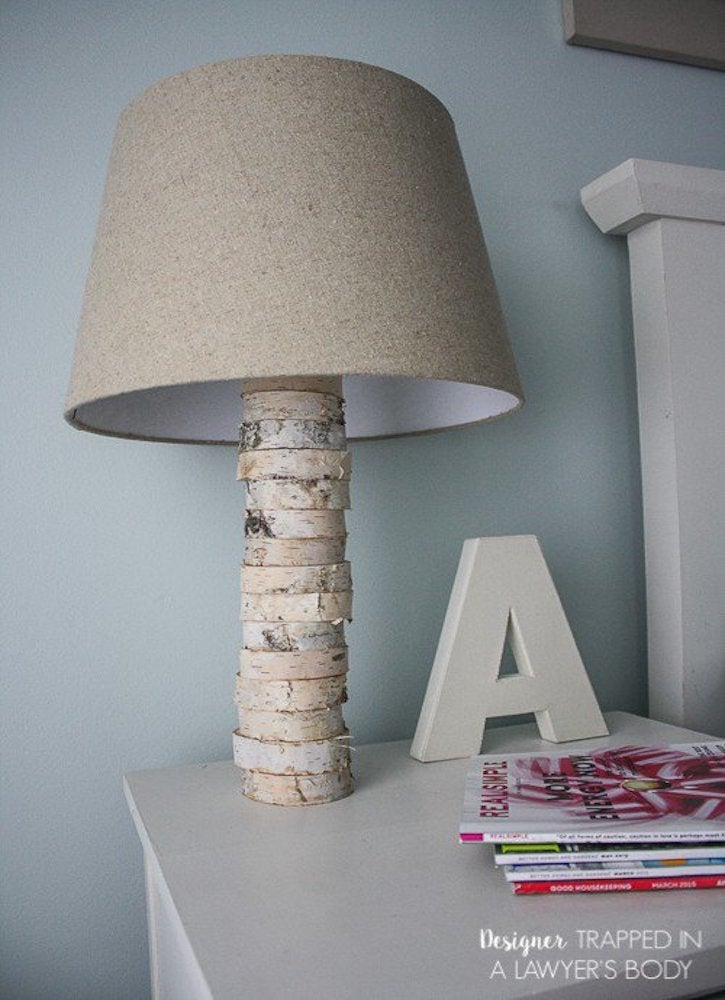 Designertrapped  wood lamp