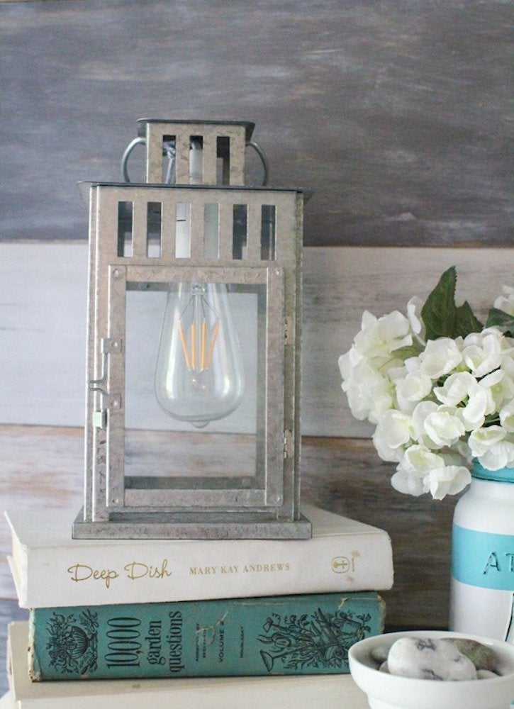 Lovelyetc galvanized metal lantern