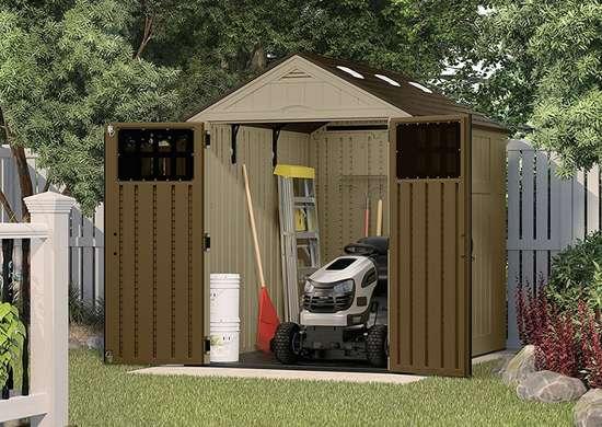 Suncast 6x8ft everett storage shed