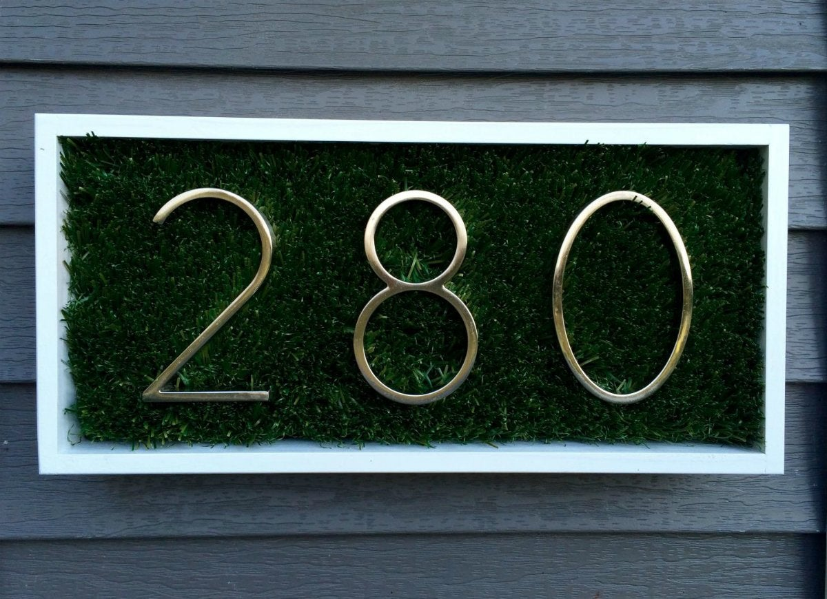 The grass is greener on your side distinctions floating mount house number