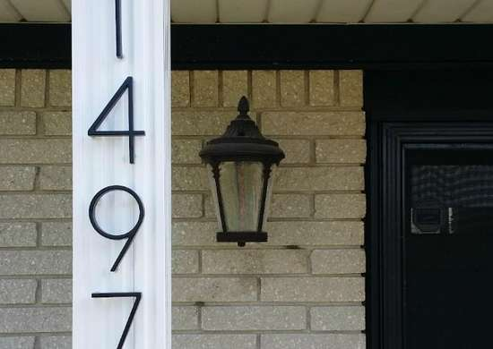 Display Your House Numbers