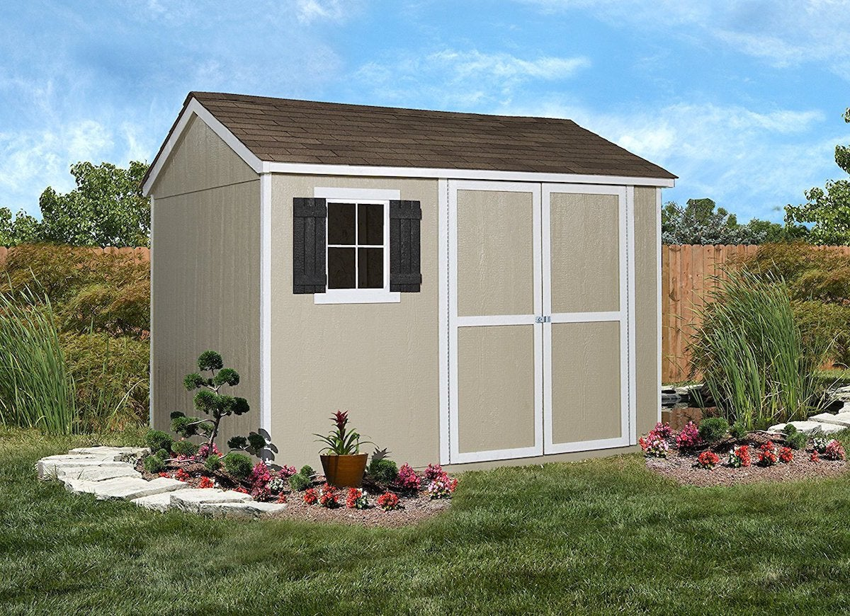Handy home products avondale wooden storage shed