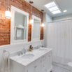 Exposed Brick Bathroom