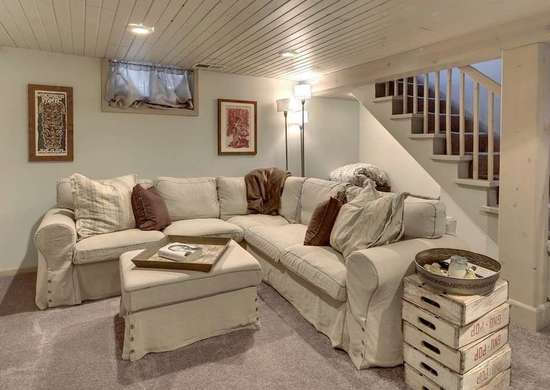 painted wood plank ceiling basement ceiling ideas 11 stylish