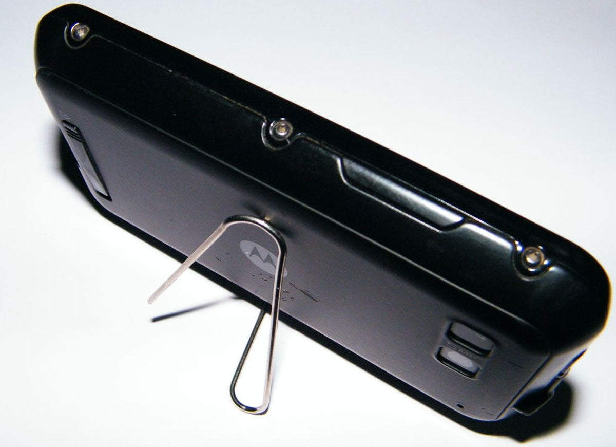 Paper clip phone stand
