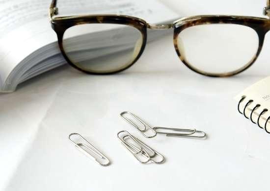 Paper clip glasses
