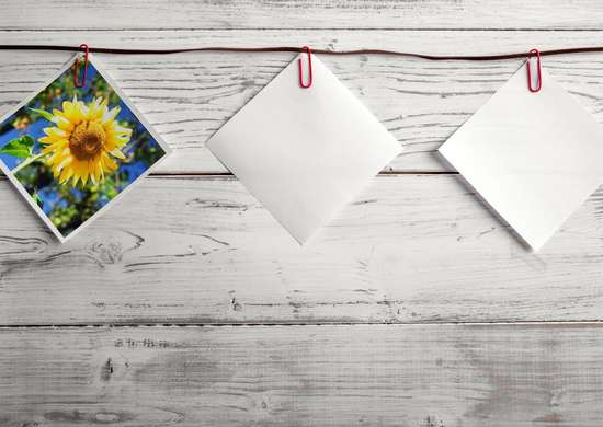 Paper clip hang
