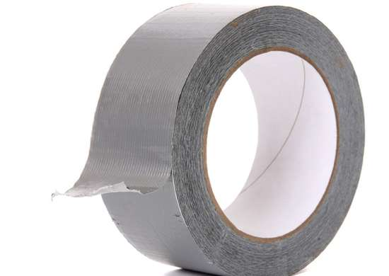 Paper clip duct tape