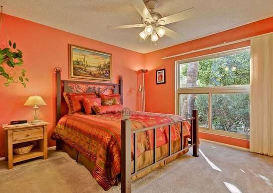 Orange Paint in Bedroom