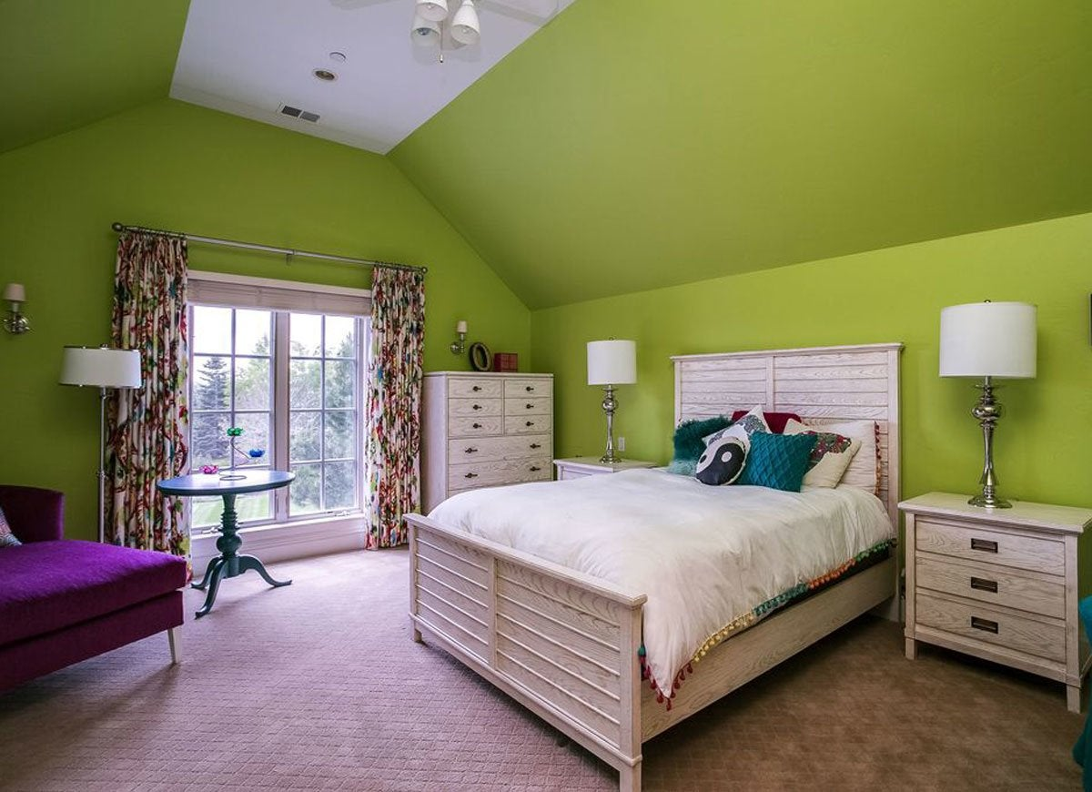lime green bedroom - Green Bedroom