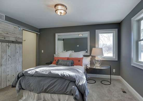 Steel Gray Paint in Bedroom