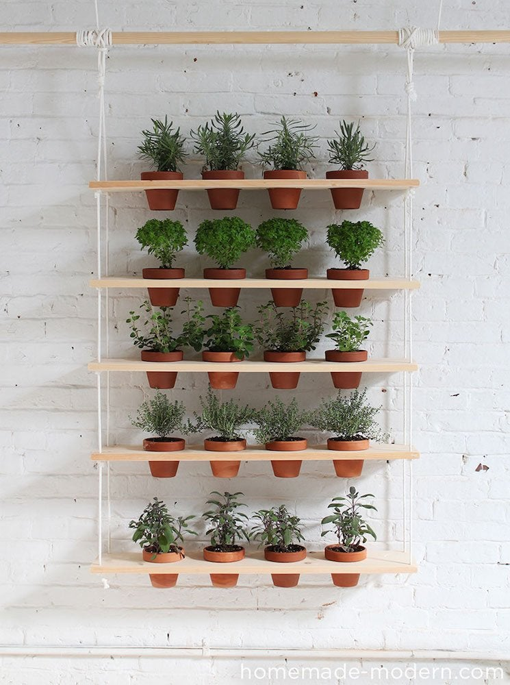 Homemade modern hanging planter