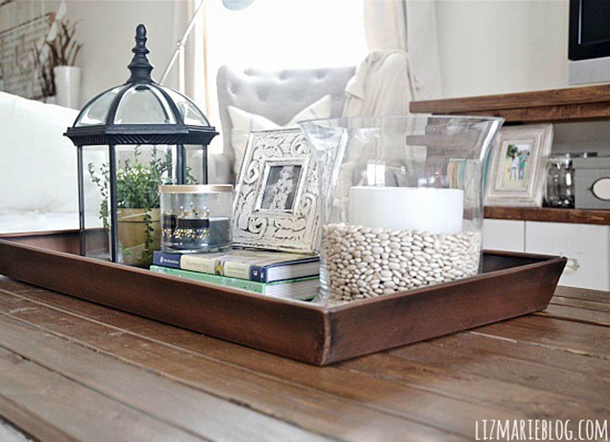 Coffee table tray