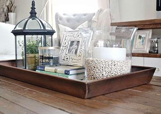 DIY Coffee Table Organizer