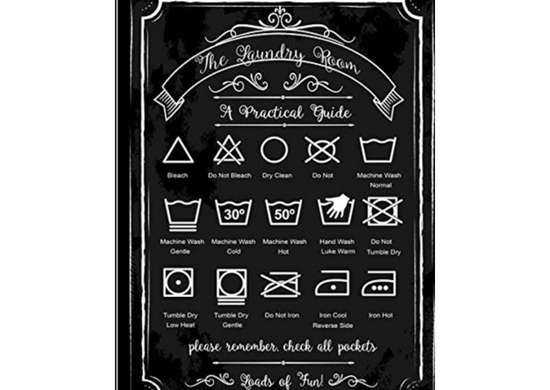 Laundry Guide Metal Sign