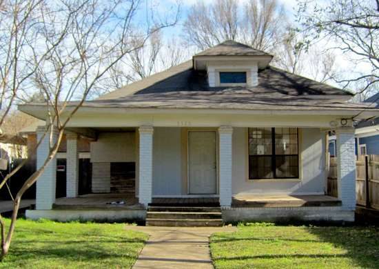 Dallas house before