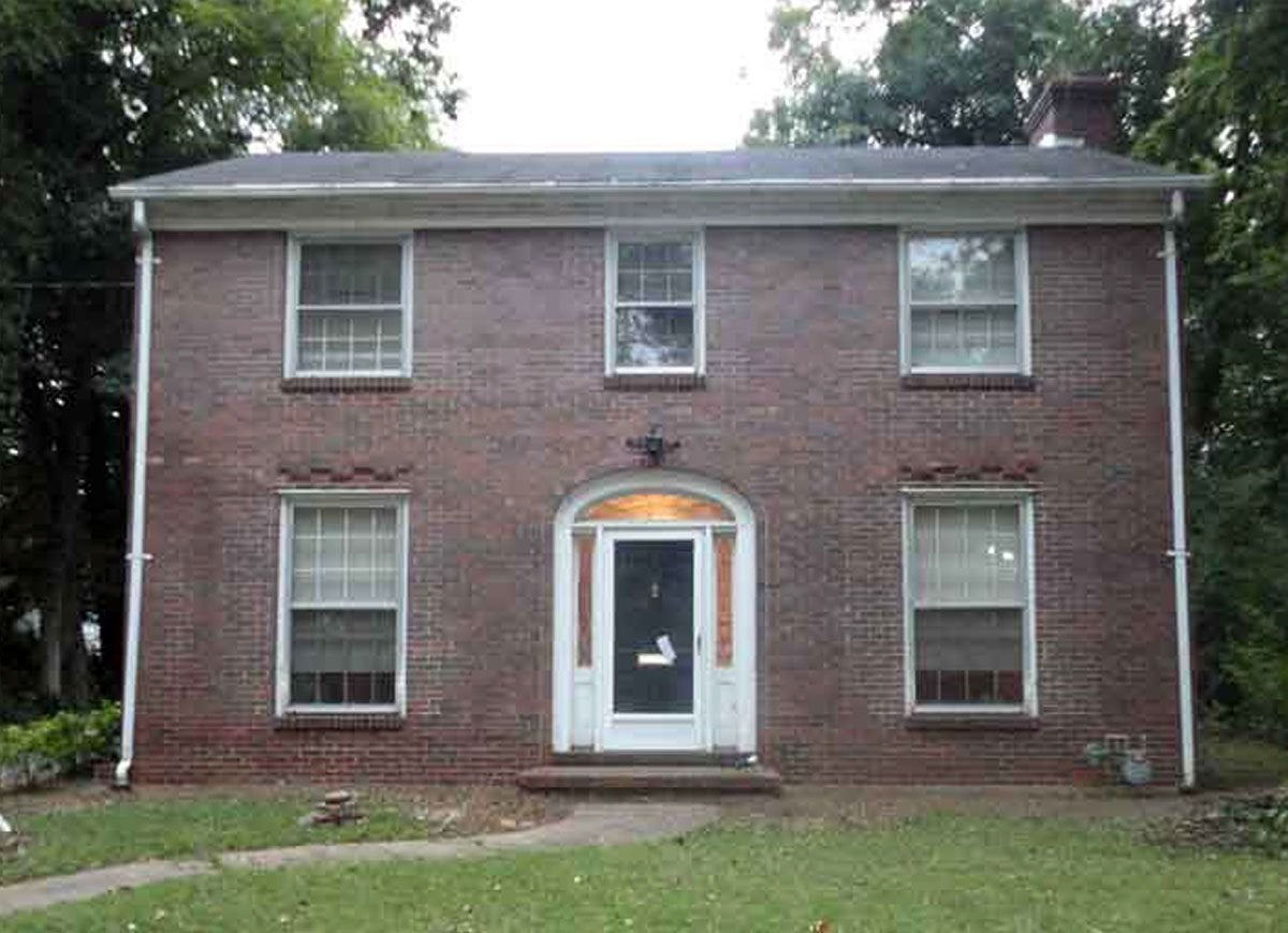 Brick house before