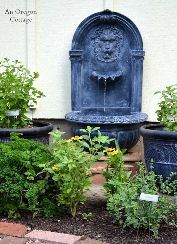 DIY Aged Fountain