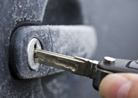 Frozen Car Lock