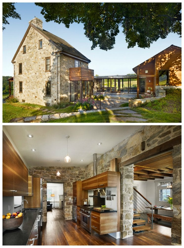 A Stunning Blend Of Farmhouse And Modern Styles This Renovation By Neely Architecture Is The Very Definition Contemporary Country Original Stone