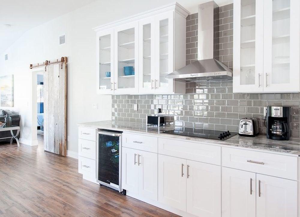 Gray Subway Tile Kitchen