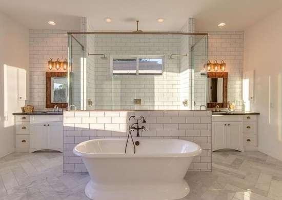 Classic Subway Tile In Bathroom